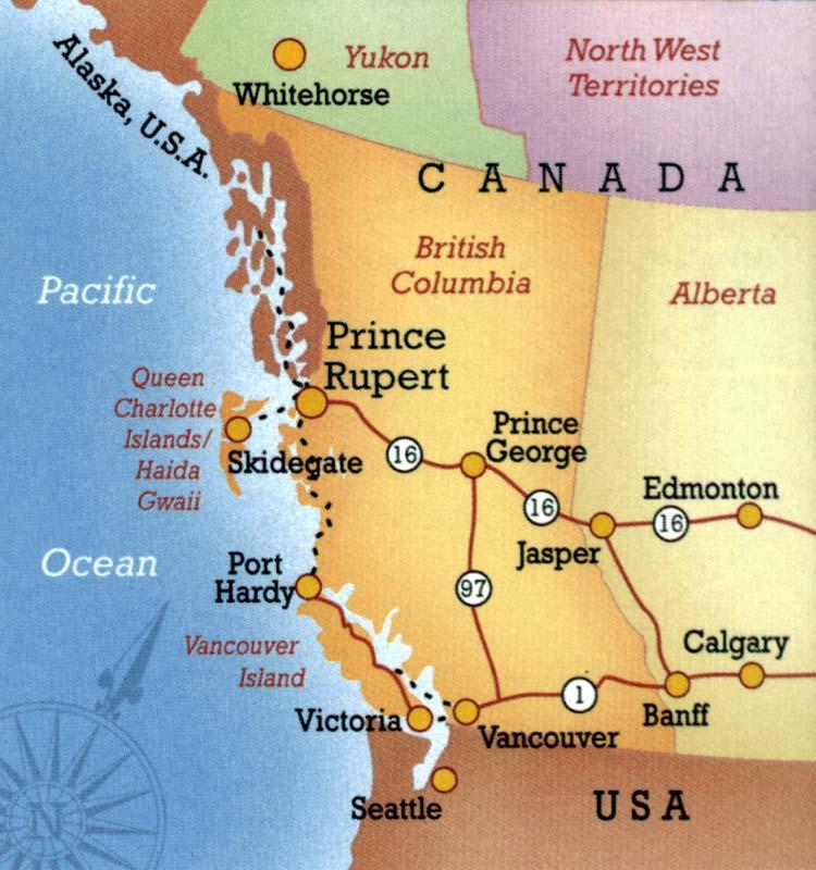 Western Canada Northwest British Columbia